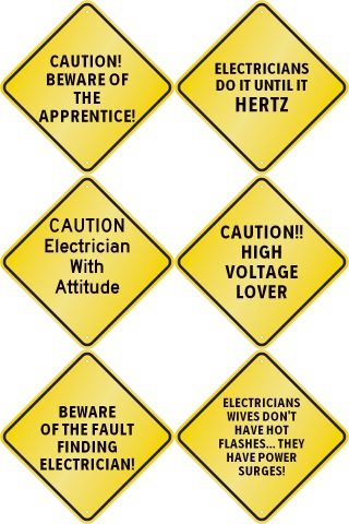Choice of SIX Funny Caution