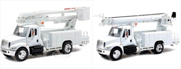 Personalized-Custom Toy Die-Cast Utility Trucks 1/43 Model Bucket OR  Digger/Auger Truck
