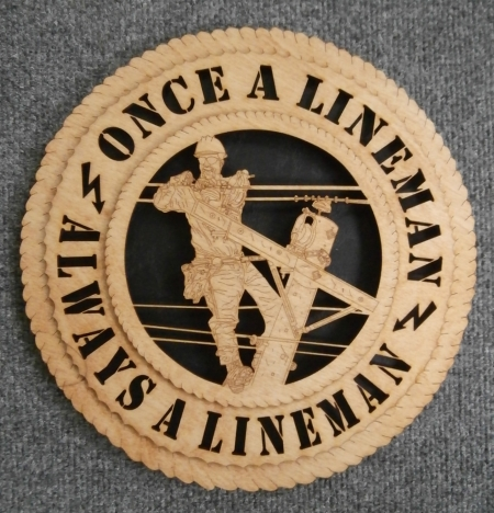 TNT: Once a Lineman...Always A Lineman Wall Art Gift - Electric Lineman