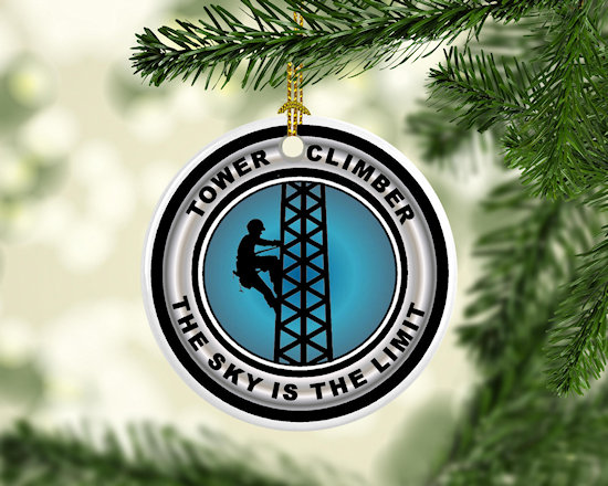 tnt  sky is the limit tower climber christmas tree ornament